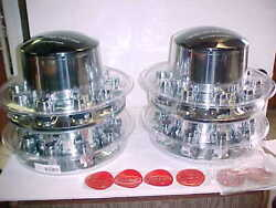 Peterbilt Chrome Set Abs Rear Axle And Hub Covers Gmx972 By Mirrex