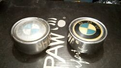 Two 1986 Bmw 535i E28 Steel Hub Cap Center Bore Cover With Roundel