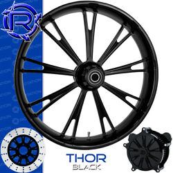 Rotation Thor Black Custom Motorcycle Wheel Front Package Harley Fatboy 18
