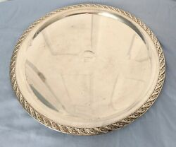 Wm Rogers And Son Spring Flower 2042 Silver-plated Round 12 Serving Tray