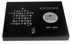 France All 15 Silver Proof Coins From Clovis To Republic Display Box Coas Casket