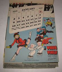 1949 Metropolitan Group Comic Character Signed By 11 Comic Artists Amazing