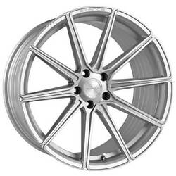 4 22 Staggered Stance Wheels Sf09 Brush Silver Rimsb31