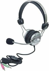 Manhattan Wired Stereo Headset W/ Mic And In-line Volume Control