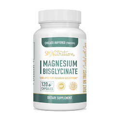 Magnesium Bisglycinate 100 Chelate Traacs 200mg 120 Caps Chelated And Buffered