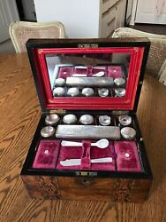 Antique Victorian Jewelry And Perfume Box , Made By Austin In Dublin 1875, Museum