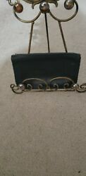HTF Vintage coach cosmetic bag w silver hardware $39.99