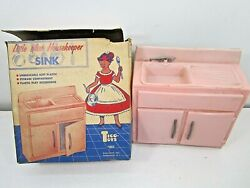 Vintage Tico-toys Little Miss Housekeeper Plastic Play Kitchen Sink In Box