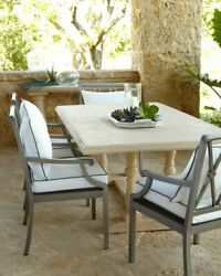 Sophia Outdoor Trestle Base Dining Table Of Stone Horchow Neiman Marcus