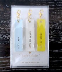 Kate Spade Boss Lady Planner Charm Set of 3 NWT