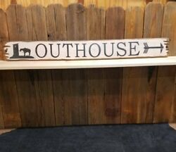 Outhouse Rustic Wood Sign/bathroom/cabin/lodge/cowboy/cowgirl/horses/western