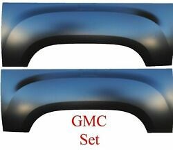 Upper Wheel Arch Quarter Panel For 6and039 And 8and039 Bed For 07-13 Gmc Sierra Pair