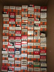 Vintage Lot Of 184 Various Tv, Radio And Misc. Tubes Rca, Ge, Cbs, Itt And Etc.