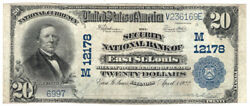 1902 Bs 20 The Security Nb Of East St. Louis Illinois. Ch 12178. Vf. Y00004551