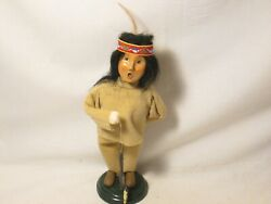 Byers Choice 1998 Native American Young Brave With String Of Fish