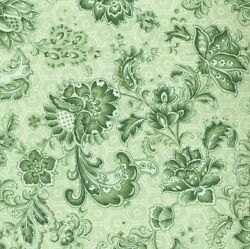 Wall Flowers Green Quilt Fabric 1 Yard