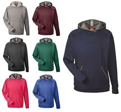 Menand039s Wicking Melange Fleece Pullover Hoodie Thumbholes Coverstitching Xs-4xl