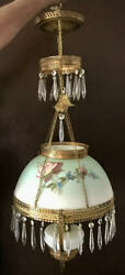 Victorian' Hanging, Electrified Lamp/prisms