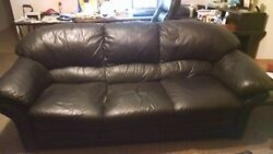 2 Nice Italian Leather Sofas. Raleigh Nc. For Pickup Only.