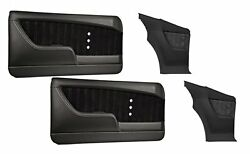 Sport Xr Molded Door And Quarter Panel Set - Black - For 1968 Camaro By Tmi
