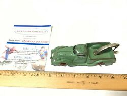 Rare Antique Cast Iron 6 Arcade A C Williams Toy Green Tow Truck 1800's