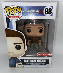 Funko Pop Uncharted 4 Nathan Drake Brown Shirt Variant Figure Target Exclusive