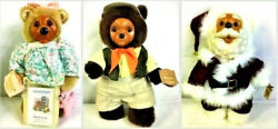 Raikes Teddy Bears Lot Of 3 Large 13 Collectible Collector Vintage Bundle