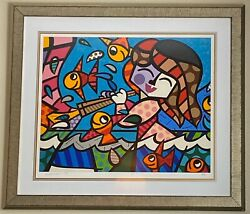 Neptuneand039s Daughter Romero Britto Limited Edition Serigraph Framed 23/300