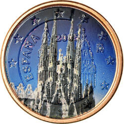 [756575] Spain 5 Euro Cent 2005 Colorised Au55-58 Copper Plated Steel