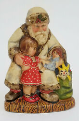 Signed And Dedicated 1991 562 Vaillancourt Folk Art 23/200 White Father Christmas