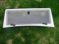 Boat Overhead Electronics Console Compartment With Plexi Door Scratches