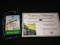 Guan Tianlang Signed Autographed Sony Open Golf Ticket Pass-proof Coa Masters