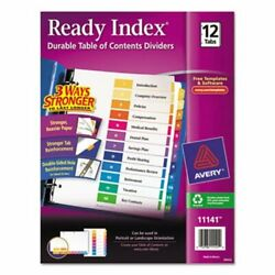 Avery Ready Index Table Of Contents Divider 1-12 Multi Letter Ave11141
