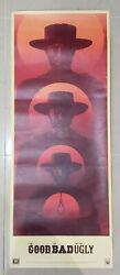 The Good The Bad And The Ugly Os 14 X 36 By La Boca Original Rolled Rare