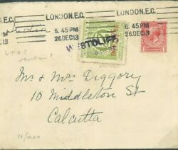 Gb Railway Letter Stamp Cover-india 1913 Westcliff Station Lms Essex 1913 330e