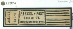 Gb Early Trial Parcel Post Cancel Dated 12.7.70 Historic Rarity 1870 1107a