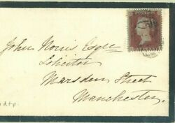 Gb Cover Rare Early Archer Perforation 1d Red Devon 1850 Trial {bpa Cert} 40a