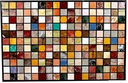 48 X 36 Marble Dining Table Top Pietra Dura Multi Color Stones Work Home Decor