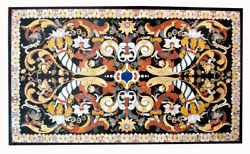 48 X 36 Marble Table Top Pietradura Marquetry Handcrafted Home Room Furniture