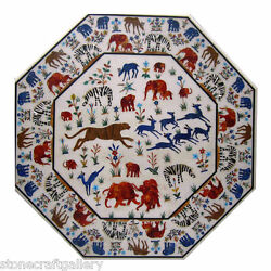 48 Marble Center Coffee Table Top Inlay Handmade Work For Home Decor