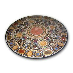 42 Marble Round Dining Table Top Pietra Dura Art Crafts Handmade Home Decor