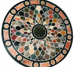 48 Marble Table Top Inlaid Multi Stones Pietra Dura Work Home Decor And Gifts