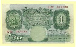 Bank Of England - One Pound - 1928-1948 Issue - Wpm 363b - L02 312033