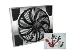 Spal 30102049 Fan And Old Air Shroud 17-1/2hx21-5/8wx4d Harness And Adj. Sensor