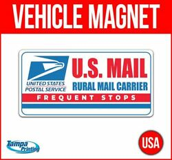 Us Mail Rural Carrier Heavy Duty Vehicle Magnet Truck Car Sticker Sign Delivery