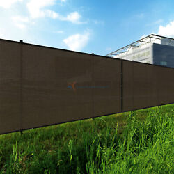 Brown 9ft 180g Privacy Fence Windscreen Screen Mesh Hdpe Netting Fabric Outdoor