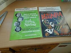 2 Original Vintage Cardboard Posters From The Hippodrome Bristol From The 1970and039s