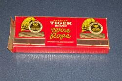 Uss American Tiger Brand Wire Rope Case Of Matches Diamond Match Co. Sealed 1940