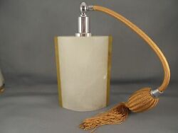 Oggetti Italy Hand Carved Alabaster Perfume Bottle W Atomizer 6 7/8