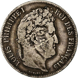 [851491] Coin France Louis-philippe 5 Francs 1840 Lyon Vf30-35 Silver